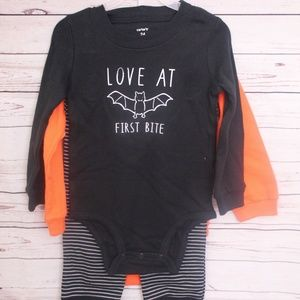 3 pc baby outfit size 9 months Halloween theme NWT